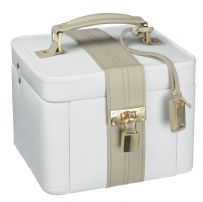 Dulwich Designs 71025 Medium Light Cream And Mink Jewellery Box